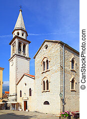Saint Ivan Church in Budva - Saint Ivan Church in old town...