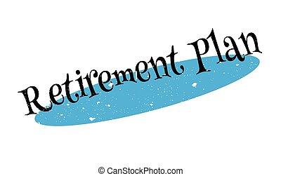 Retirement Plan rubber stamp