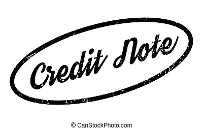 Credit Note rubber stamp. Grunge design with dust scratches....