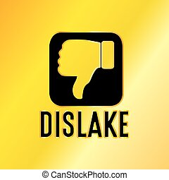 Golden Dislike Emblem - Dislike Emblem with Golden...