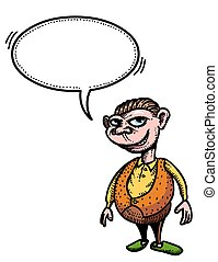 grinning man-100 Cartoon image - Cartoon image of grinning...