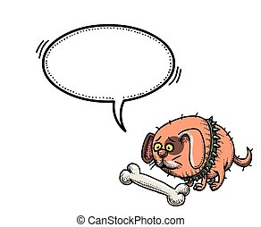 small fat dog-100 - Cartoon image of small fat dog. An...