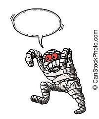 bandaged mummy-100 Cartoon image - Cartoon image of bandaged...