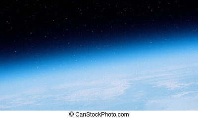 Flying Above Earth Through The Atmospherec