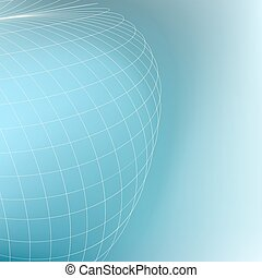 Abstract geometric globe background. Curves diverging fine...