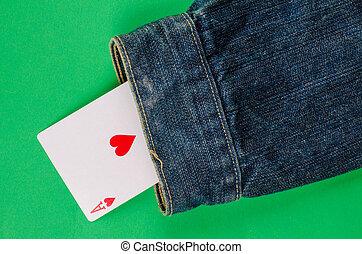 Card up the sleeve