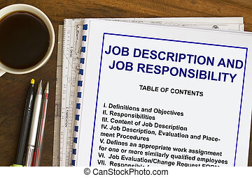 job description and responsibilities- many uses in the HR...