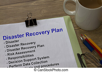Disaster recovery plan - many uses in the construction...