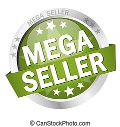 Button Mega Seller - colored button with banner and text...