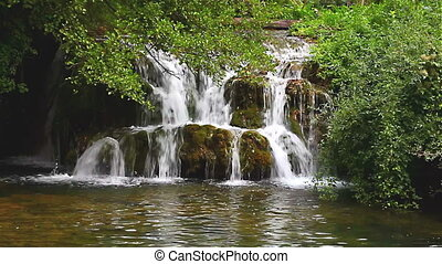Waterfall 07 looping green