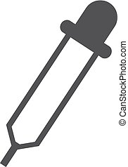 Pipette icon in black on a white background. Vector...