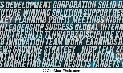 Business word cloud - Abstract background business word...