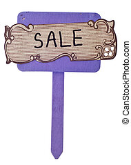 Handwritten Sale Sign Isolated on White with a Clipping Path...