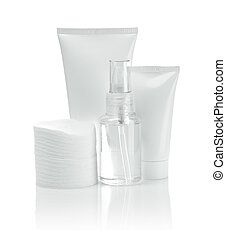 cosmetical tubes and pads