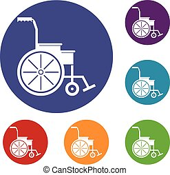 Wheelchair icons set