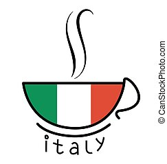 Coffee Cup with the Italian flag