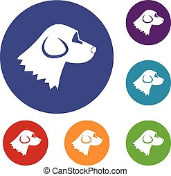 Beagle dog icons set