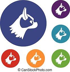 Pug dog icons set