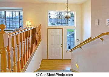 Front door and entrance - Split level home with a typical...