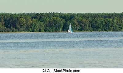 A Lonely Yacht on the Lake
