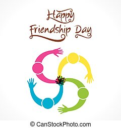 happy friendship day design