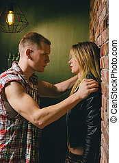 Strong sexual tension - Stron sexual tension between man and...