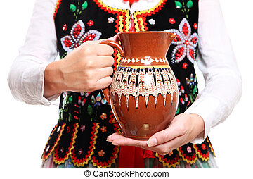 Polish outfit and the jug