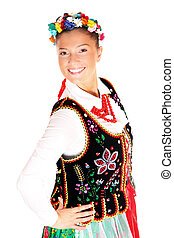 Polish traditional dancer