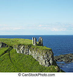 ruins of Dunseverick Castle, County Antrim, Northern Ireland