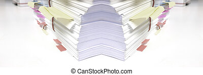 Pile of Documents in Office