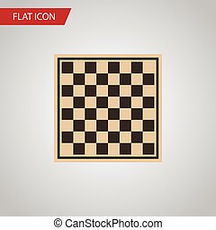 Isolated Checkerboard Flat Icon. Chess Table Vector Element Can Be Used For Checkerboard, Table, Chess Design Concept.