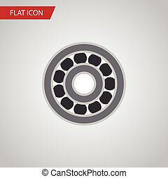 Isolated Ball Bearing Flat Icon. Brake Disk Vector Element...