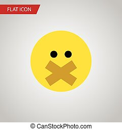 Isolated Silent Flat Icon. Hush Vector Element Can Be Used...