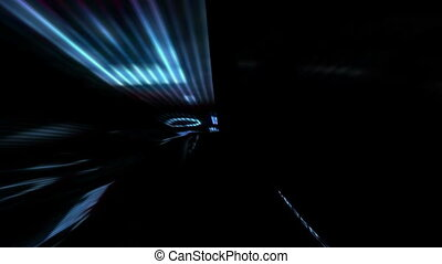 Driving through virtual tunnel