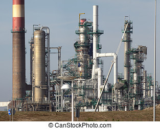 Part of an oil refinery and powerplant - Part of a big oil...