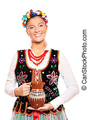 Traditional Polish girl