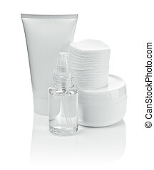white cosmetical set isolated