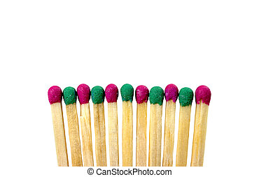 Match different colors on a white background. abstract...
