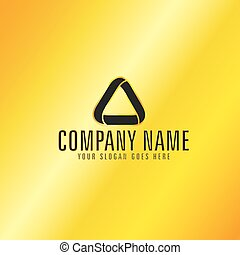 Golden Color Triangle Emblem - Black Triangle Emblem with...