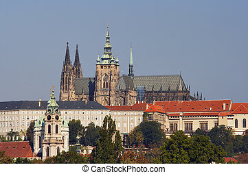 Cathedral of St Vitus in the Prague castle - the monumental...