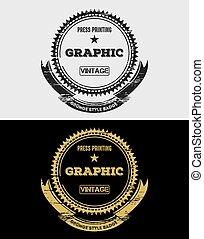 Graphic Vintage Grunge Logo & Badges