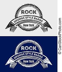 Grunge Vintage Rock Logo & Badges