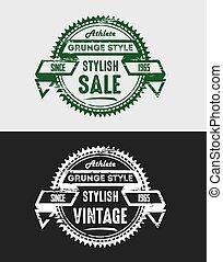 Grunge Vintage Sale Logo & Badges