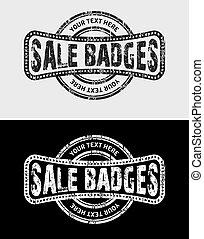 Sale Grunge Vintage Logo & Badges
