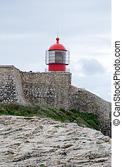 Lighthouse at Saint Vincent Cape (portugal) - Cabo de Sao...