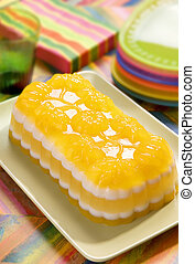 Multilayer party gelatine - Jelly dessert for a party