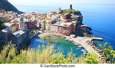 Beautiful Vernazza in Cinque Terre. One of five famous...
