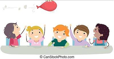 Stickman Kids Physics Activity Balloon