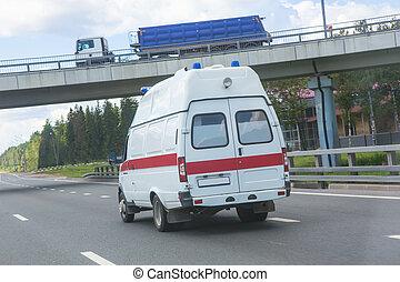 汽車, 高速公路, 救護車