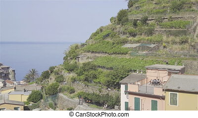 View on architecture and nature of old italian village....